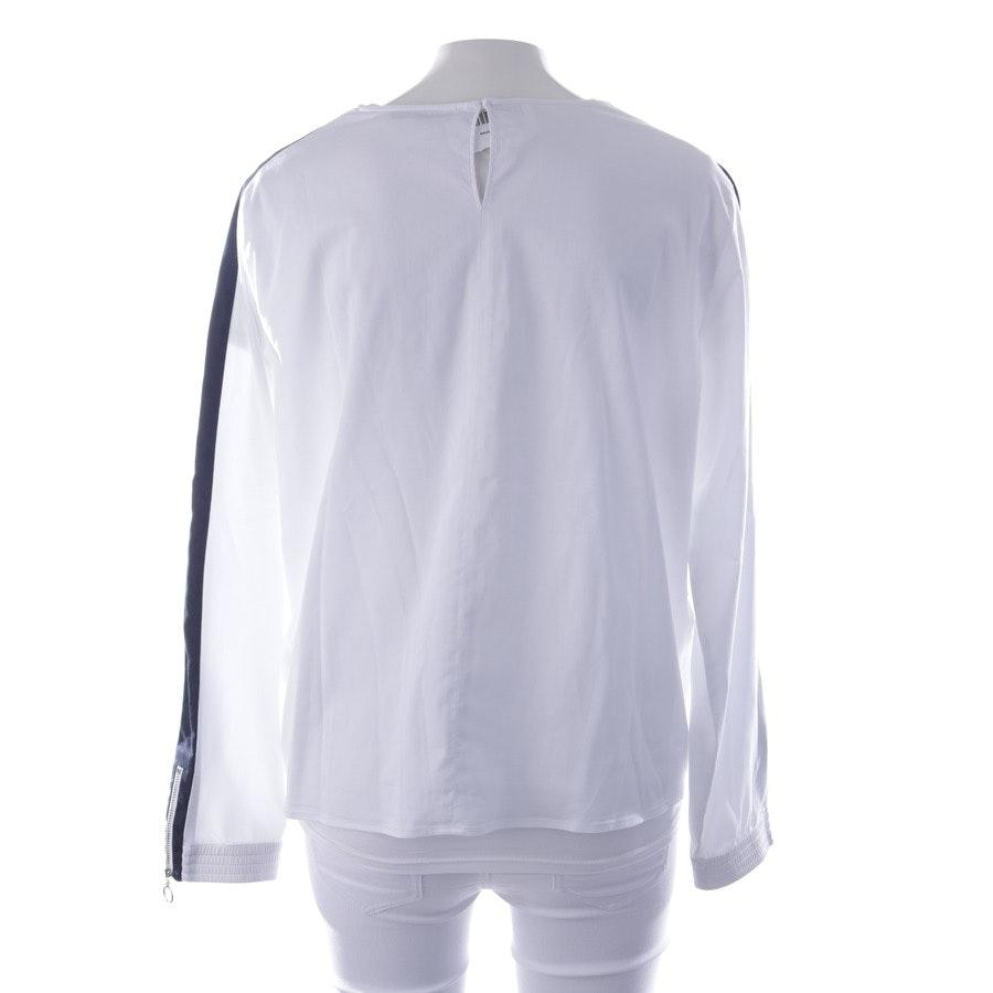 Bluse von Soluzione in Weiß und Blau Gr. 36 IT 42