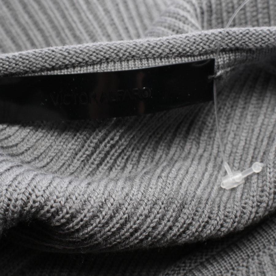 Wollstrickkleid von Victor Alfaro in Grau Gr. 38 US 8 - Neu
