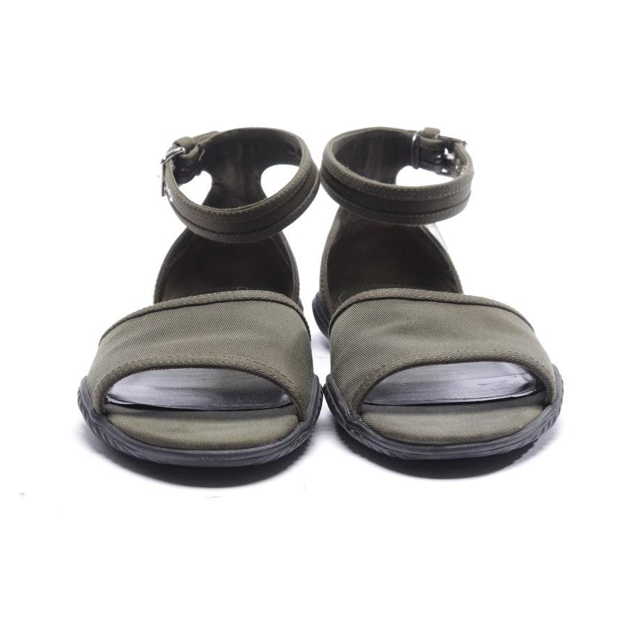 Sandalen von Prada Linea Rossa in Olivgrün Gr. EUR 39