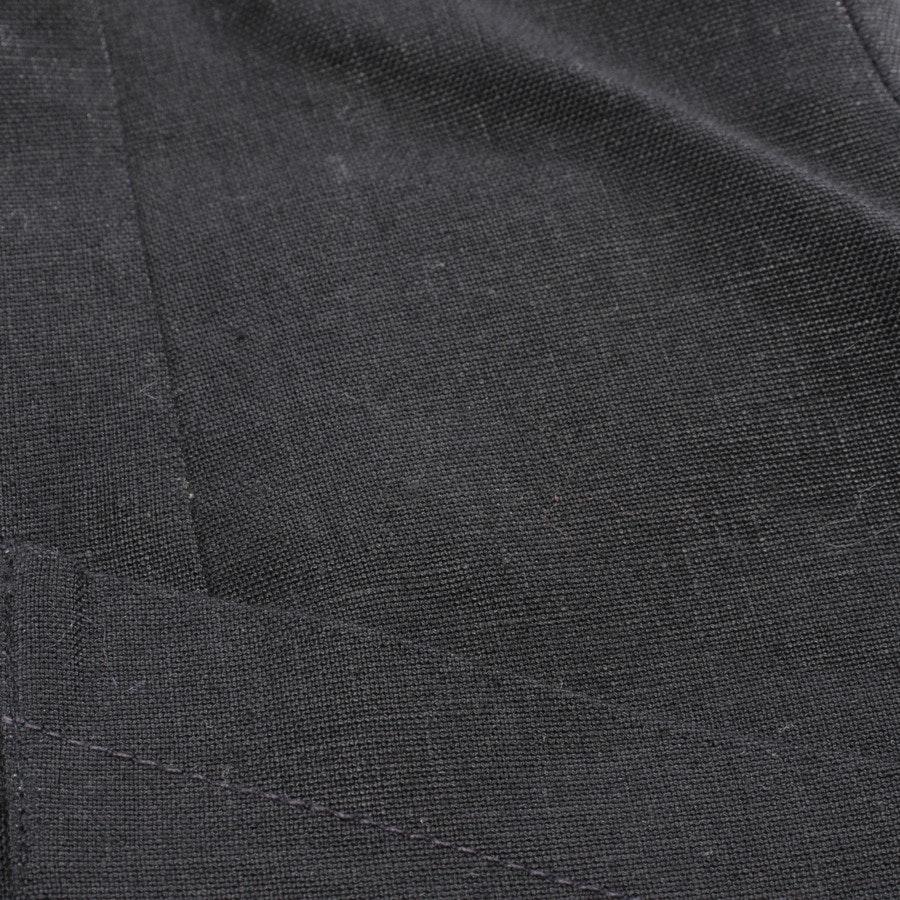Leinenbluse von Hermès in Schwarz Gr. 36 FR 38