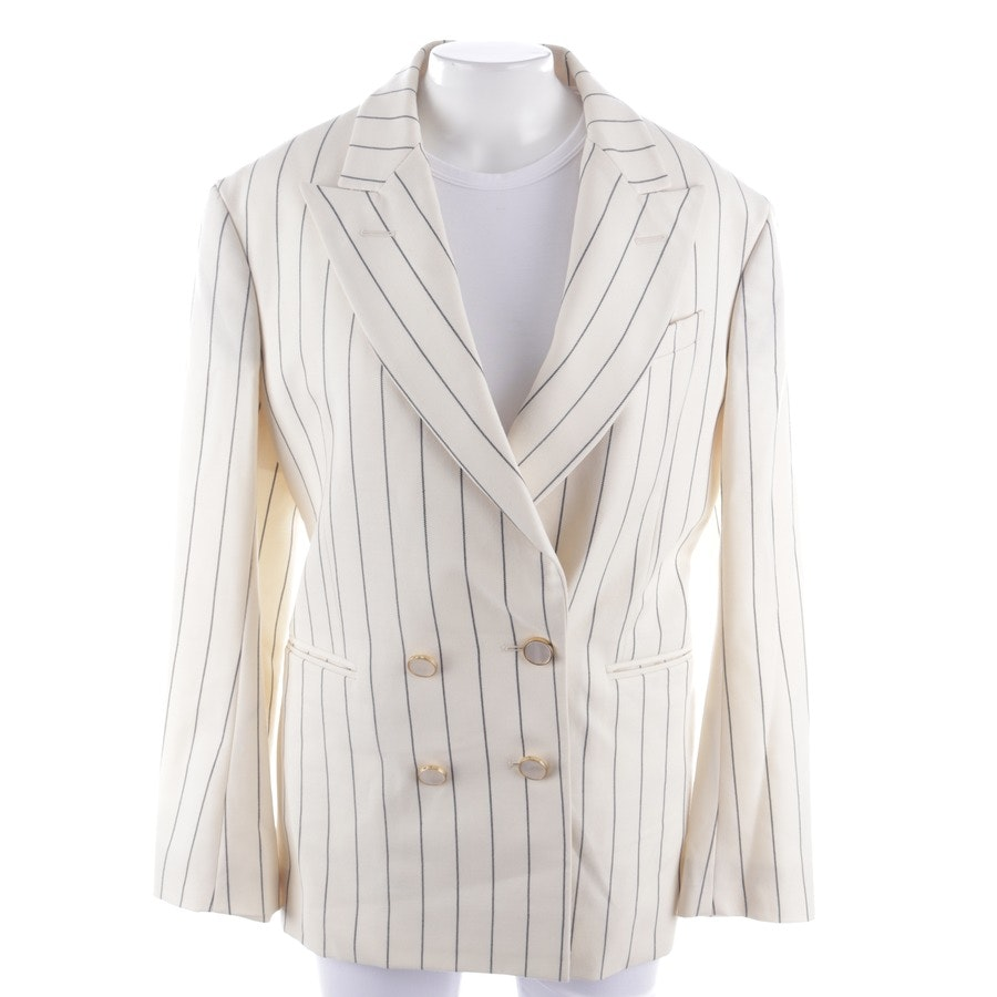 blazer from HILLIER BARTLEY in cream and black size 38 UK 38