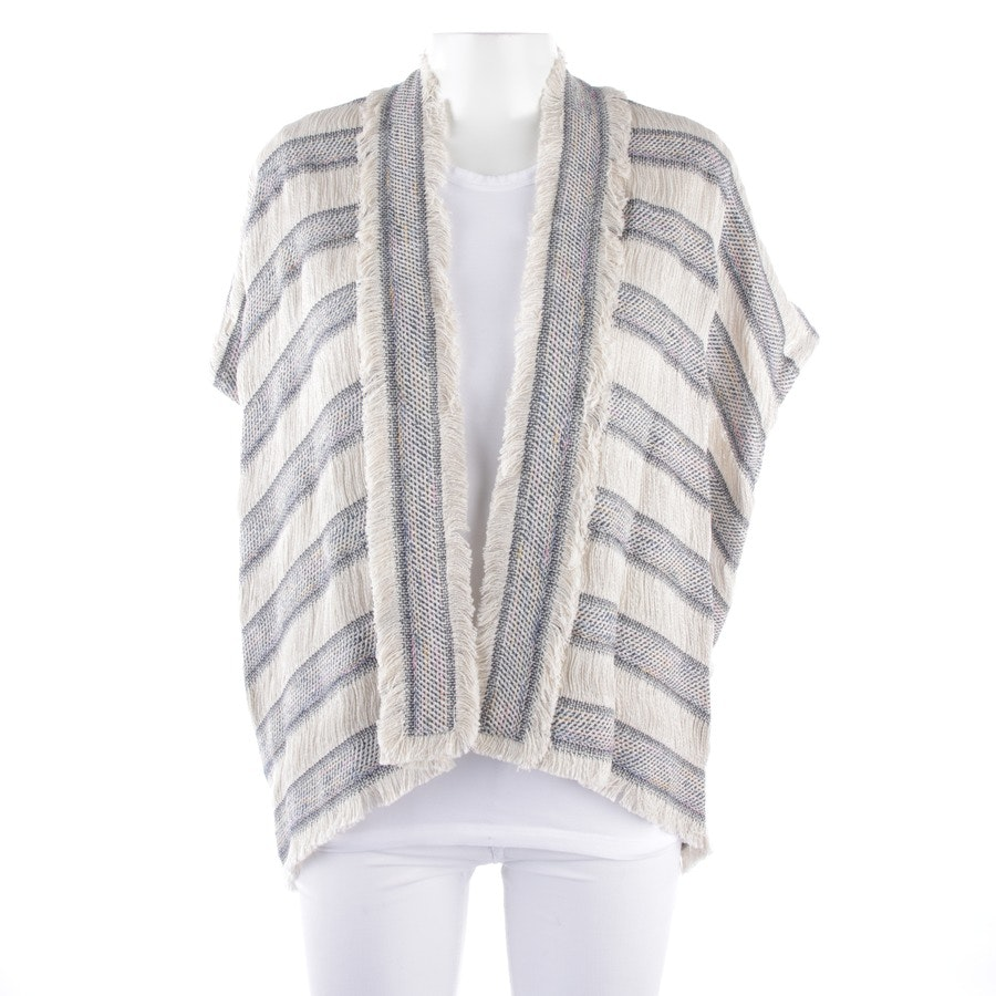 waistcoat from Maje in cream and blue size One Size