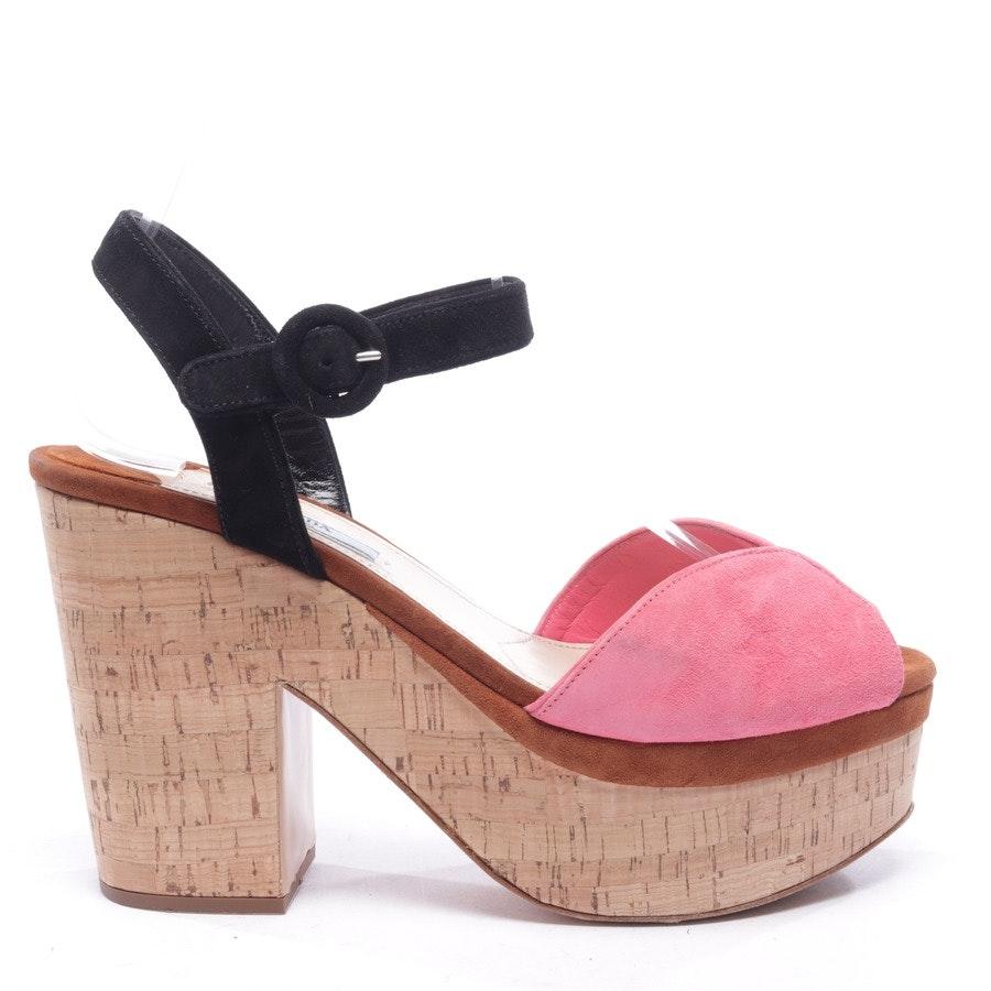 Sandaletten von Prada in Pink und Schwarz Gr. EUR 38,5