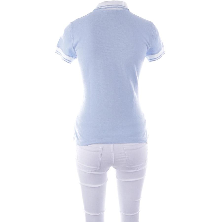 Poloshirt von Blumarine in Hellblau und Weiß Gr. 36