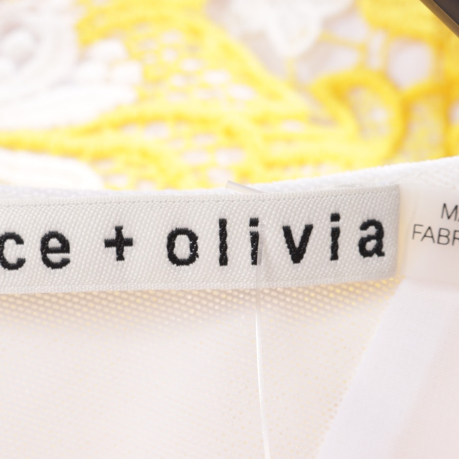 dress from Alice + Olivia in white and yellow size 36 US 6