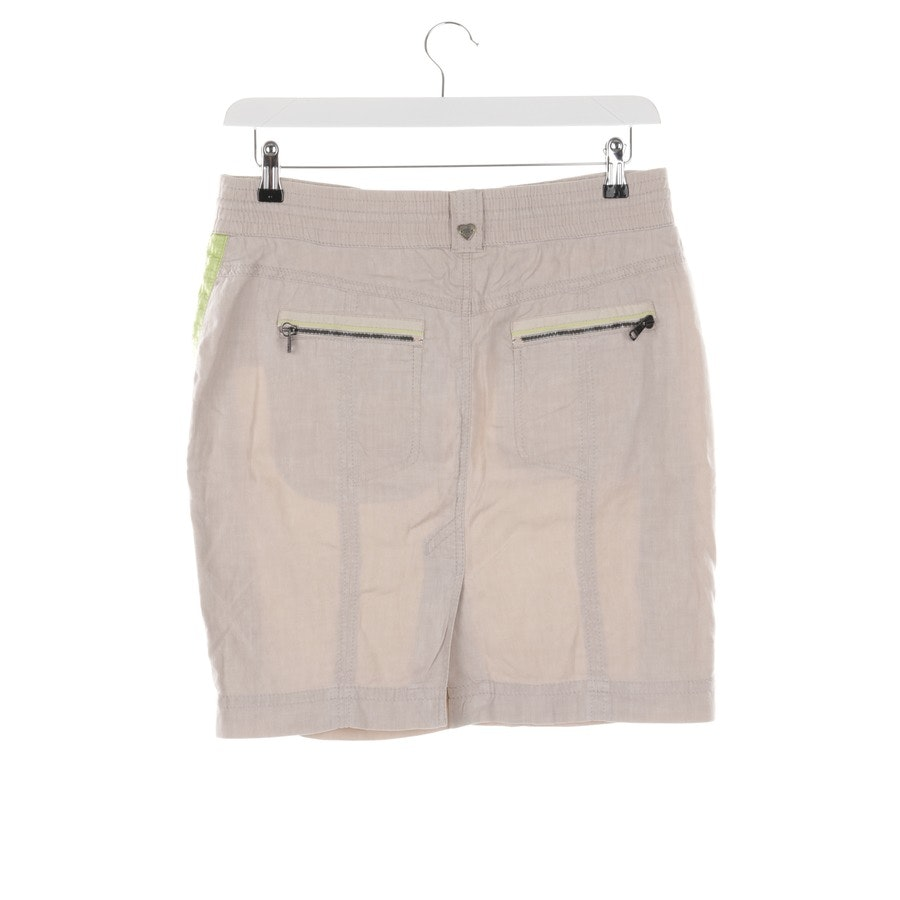 skirt from Marc Cain Sports in beige and green size 38 N3