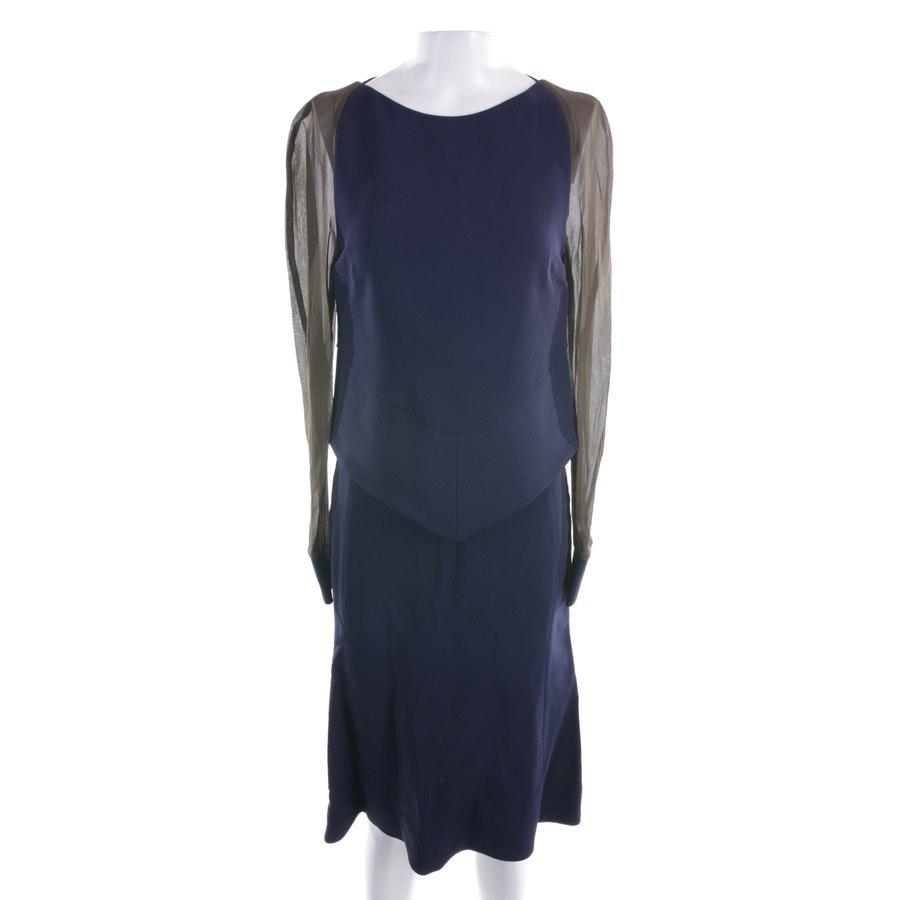 Kleid von Antonio Berardi in Dunkelblau und Grün Gr. 34 IT 40 - Neu