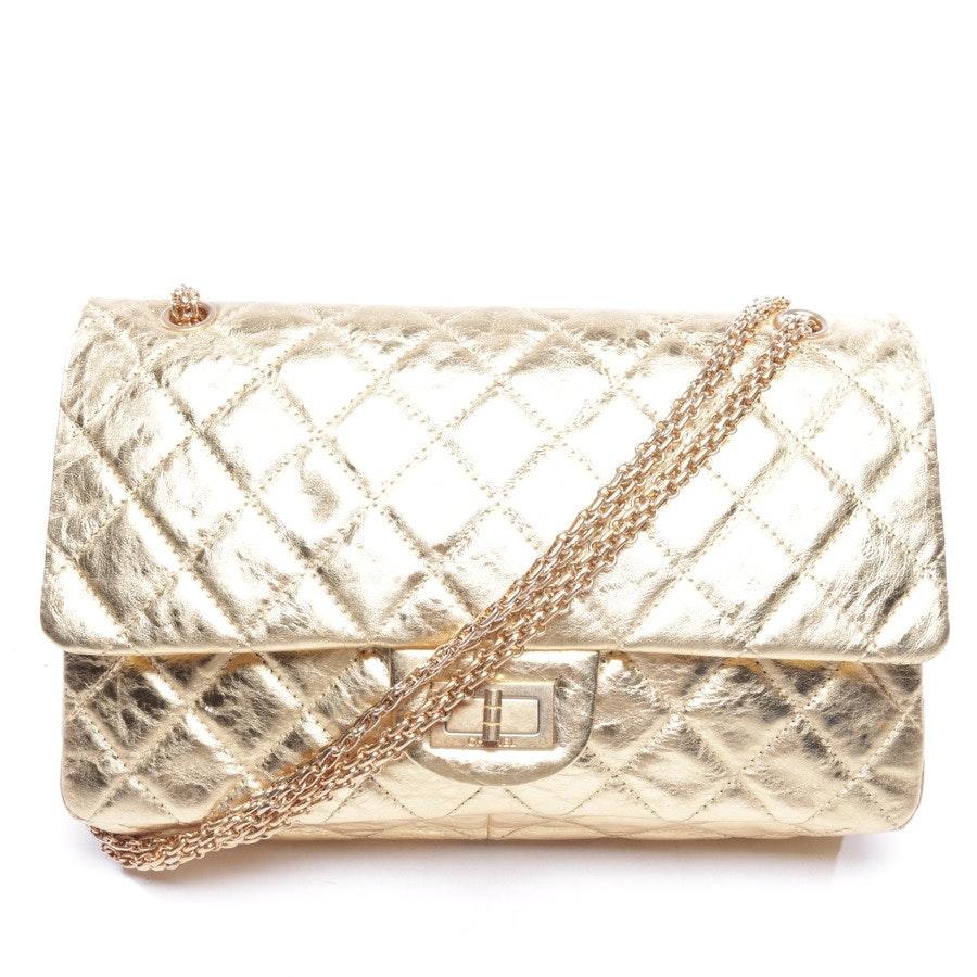 Schultertasche von Chanel in Gold - 2.55 groß
