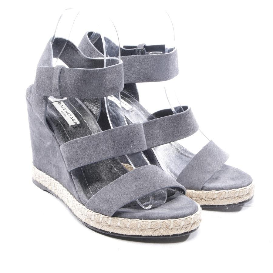 Sandaletten von Balenciaga in Grau Gr. D 39