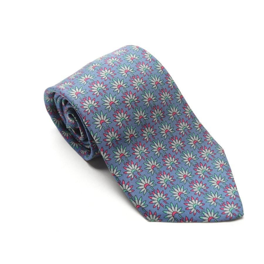 Seidenkrawatte von Hermès in Nachtblau und Mehrfarbig