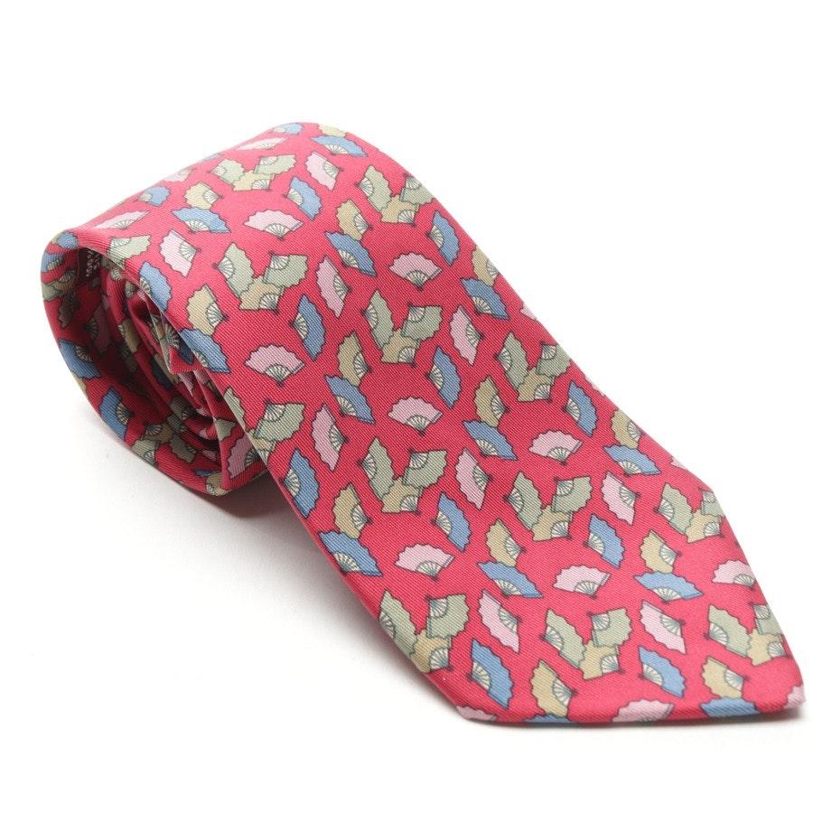Seidekrawatte von Hermès in Pink und Mehrfarbig