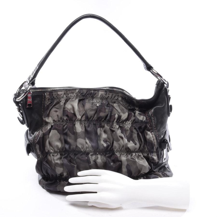 Schultertasche von Prada in Camouflage und Schwarz