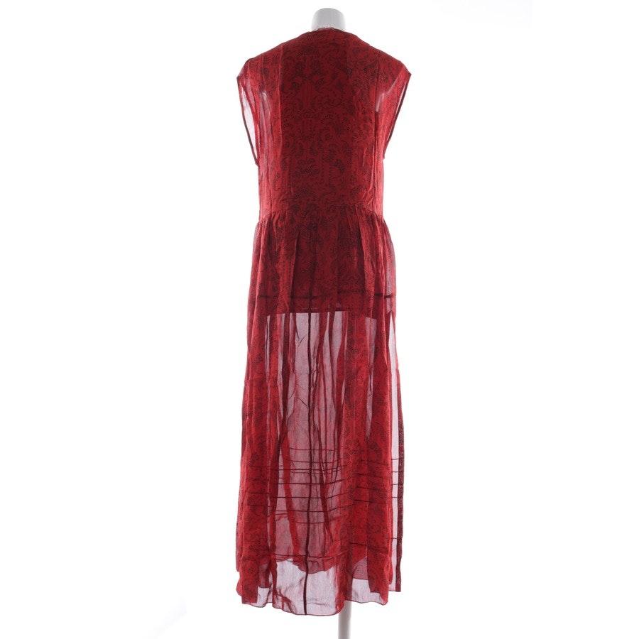 Kleid von Iro in Rot und Schwarz Gr. 32 FR 34