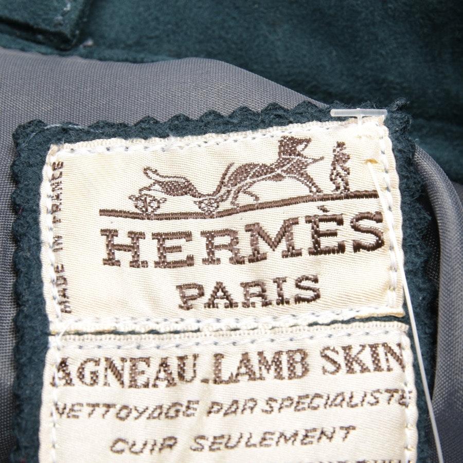 Lederrock von Hermès in Petrol Gr. 32