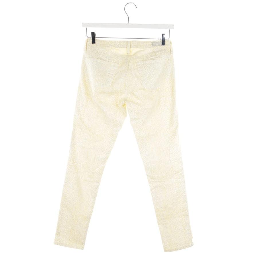 Jeans von AG Jeans in Pastellgelb und Weiß Gr. W28 - Legging Ankle