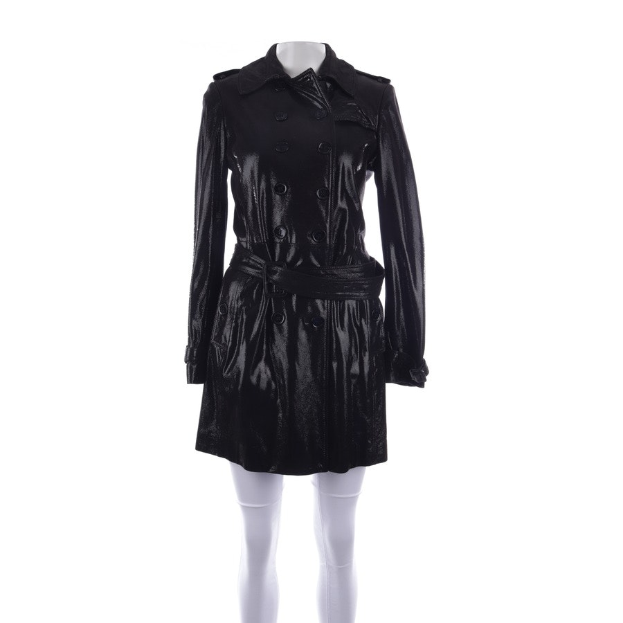 Ledermantel von Burberry London in Schwarz Gr. 34 UK 8