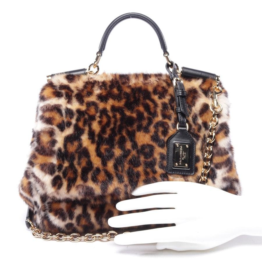 Handtasche von Dolce & Gabbana in Beige und Braun - Miss Sicily