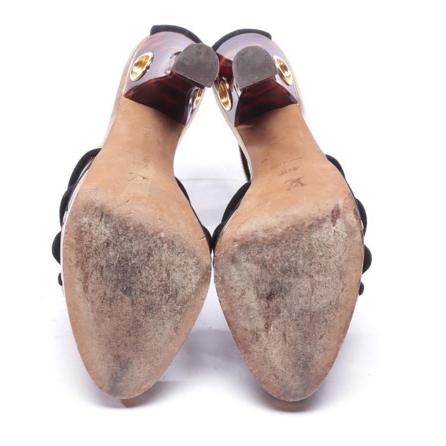 Sandaletten von Louis Vuitton in Schwarz und Gold Gr. EUR 38,5