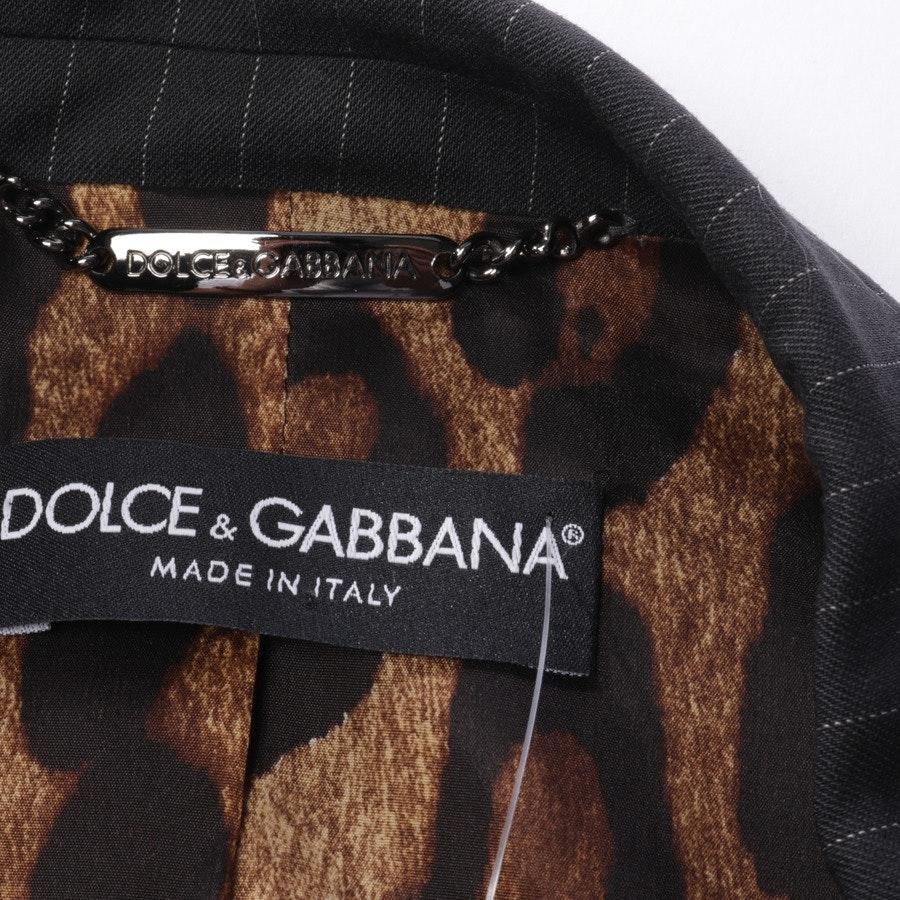 Blazer von Dolce & Gabbana in Anthrazit Gr. 42 IT 48