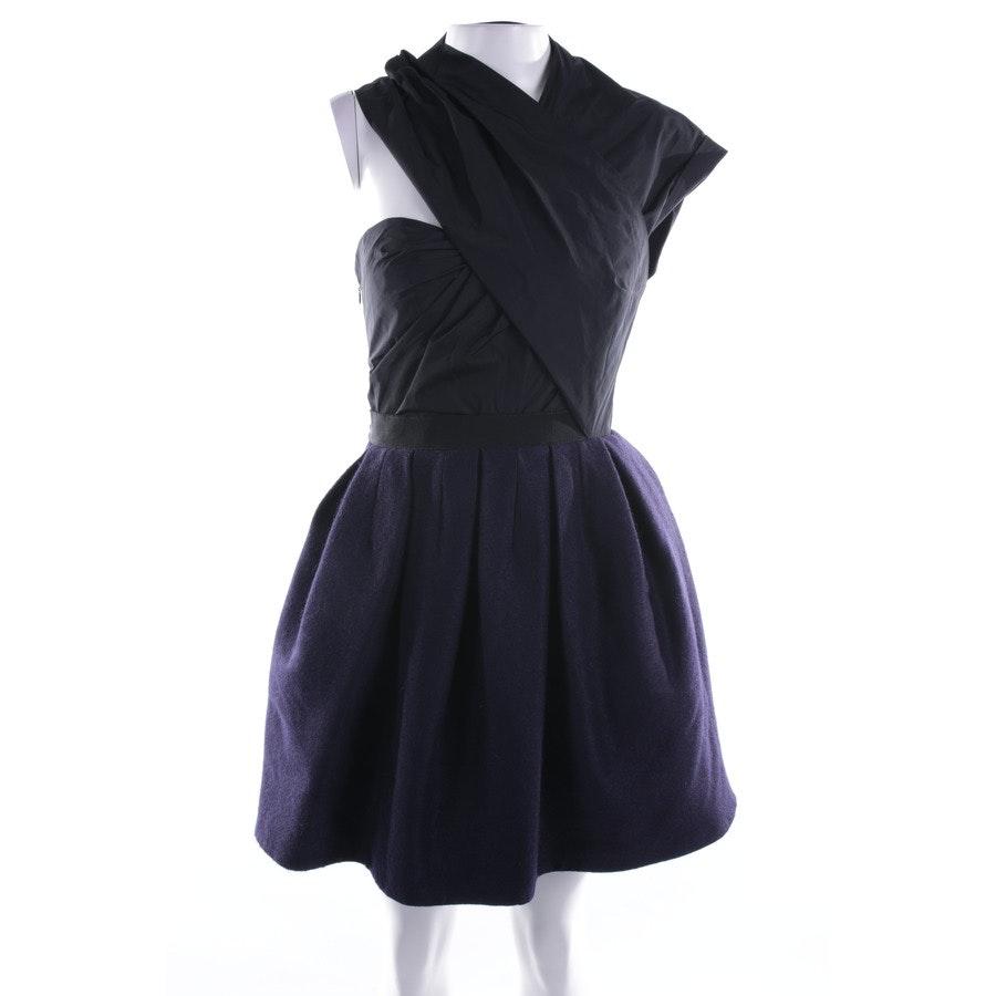 Kleid von Carven in Schwarz und Blau Gr. 34 FR 36