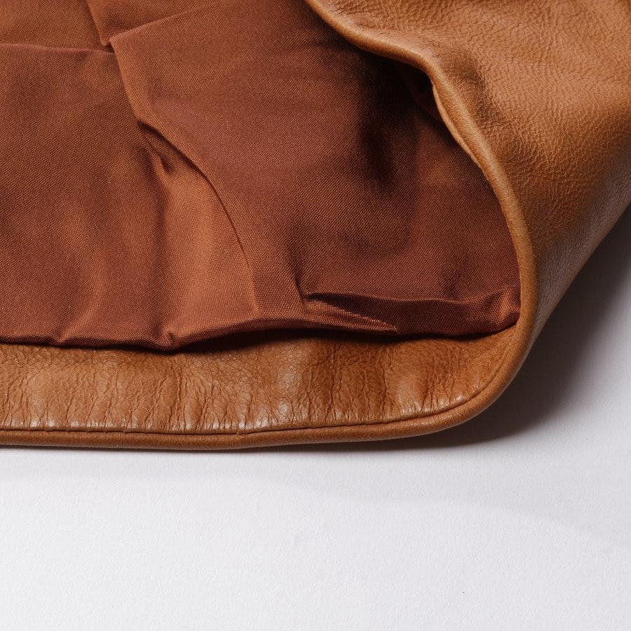 Lederrock von Prada in Camel Gr. 42 IT 48 - Neu