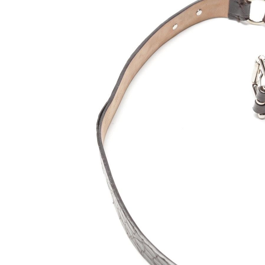 Gürtel von Dolce & Gabbana in Dunkelbraun Gr. 85 cm