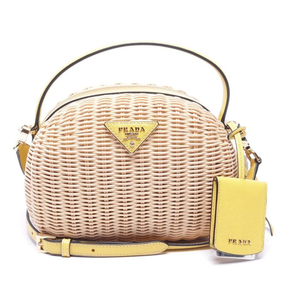 Handtasche von Prada in Beige und Gelb - Odette - Neu