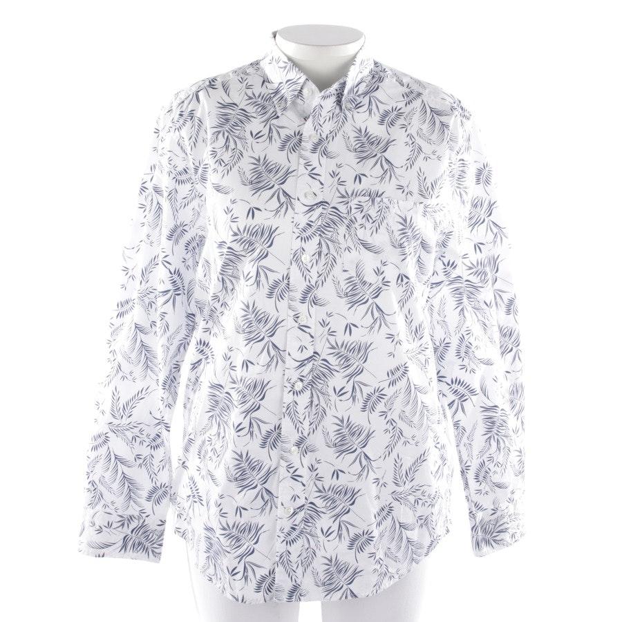 Bluse von Gant in Weiß und Blau Gr. L