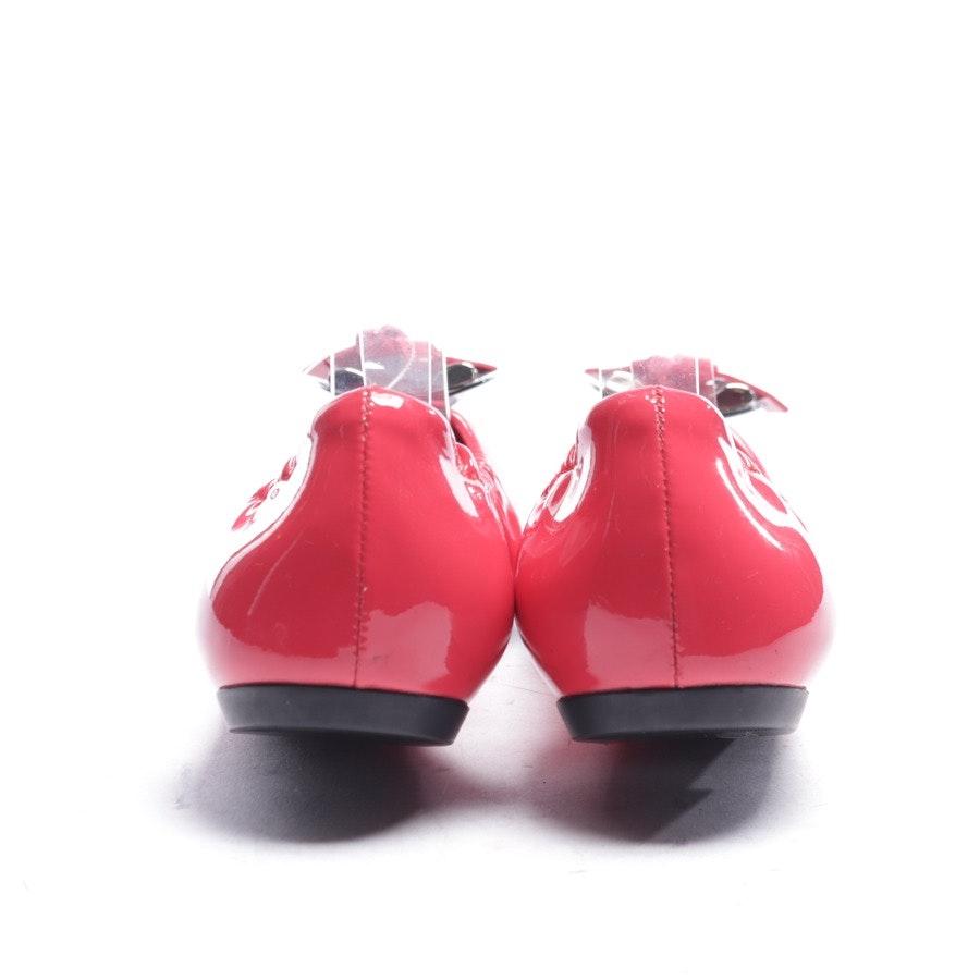 Ballerinas von Louis Vuitton in Himbeerrot und Schwarz Gr. EUR 37