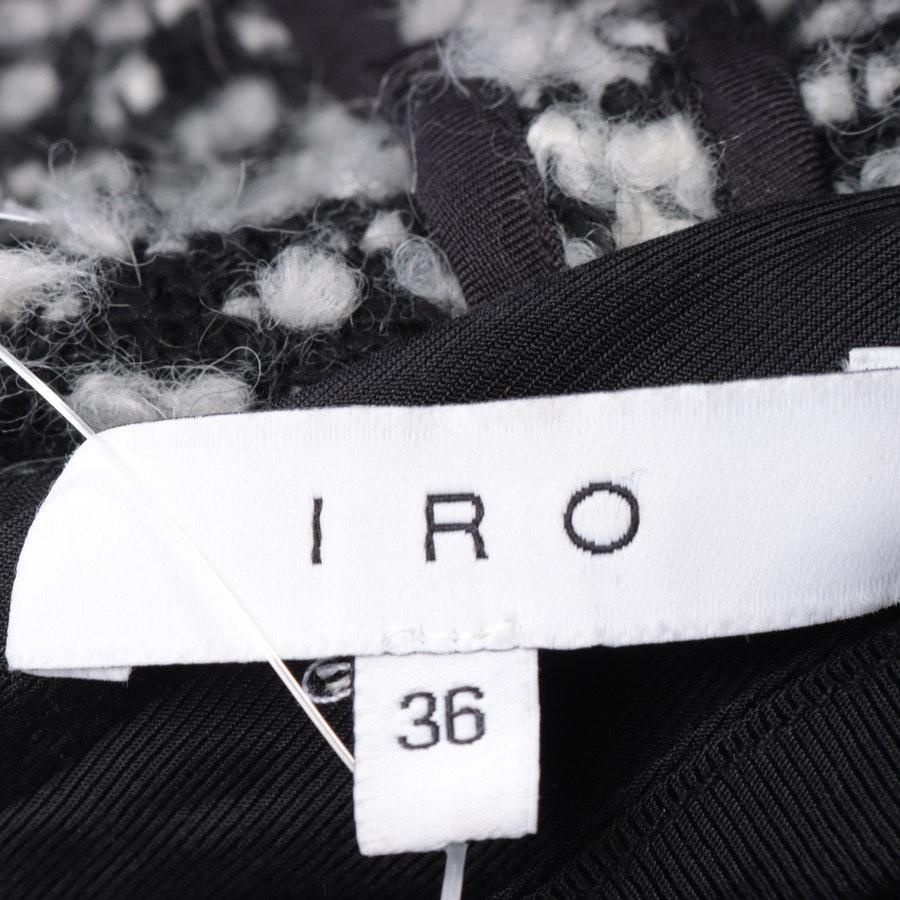 Bouclejacke von Iro in Schwarz und Weiß Gr. 34 FR 36
