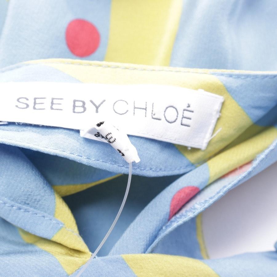Seidenkleid von See by Chloé in Himmelblau und Multicolor Gr. 36