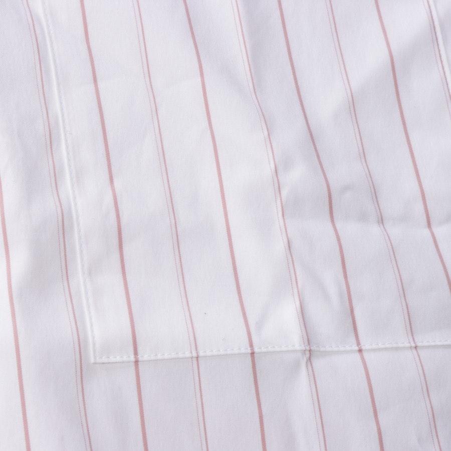 Bluse von Soluzione in Weiß und Rosa Gr. 30 IT 36