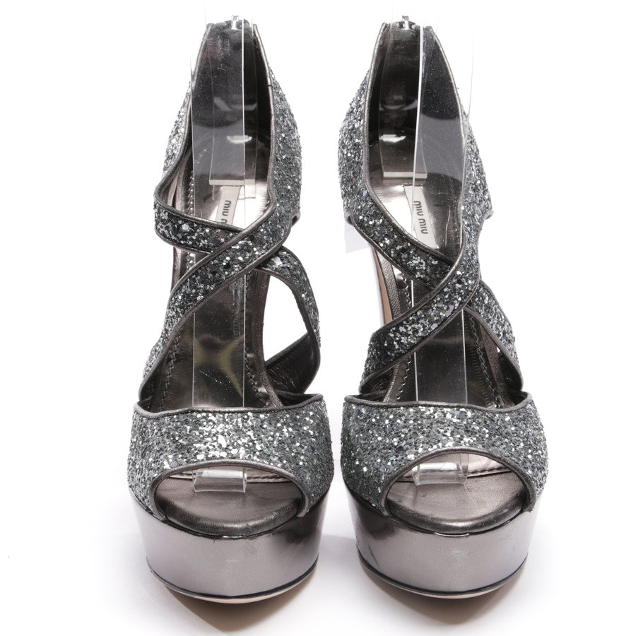 heeled sandals from Miu Miu in silver size D 37