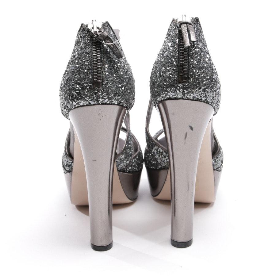 Sandaletten von Miu Miu in Silber Gr. D 37