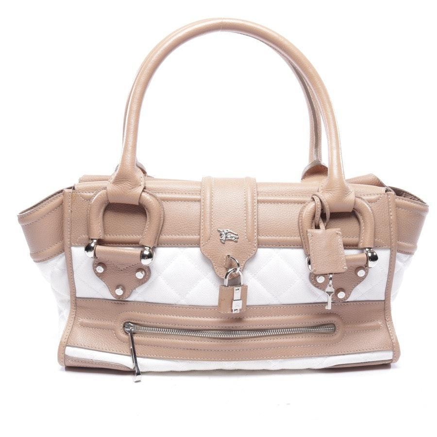 Handtasche von Burberry in Sand und Weiß - Quilted Manor Tote Bag