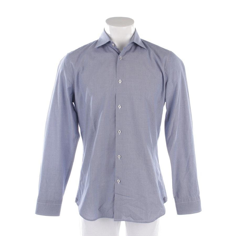 Freizeithemd von Marc O'Polo in Blau und Weiß Gr. 39-40 / M