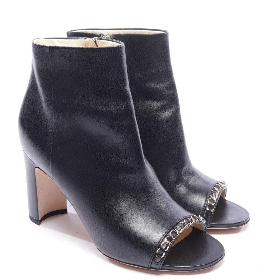 Open Toe Stiefeletten von Chanel in Schwarz Gr. EUR 38