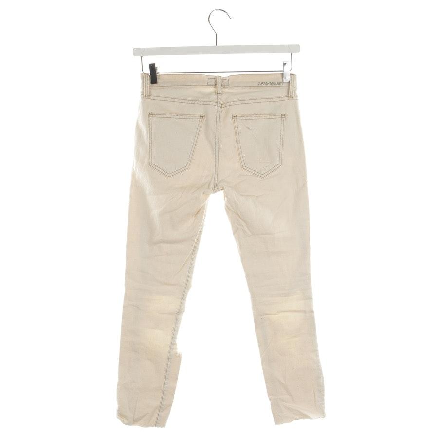 Jeans von Current/Elliott in Wollweiß Gr. W26 - The Stiletto