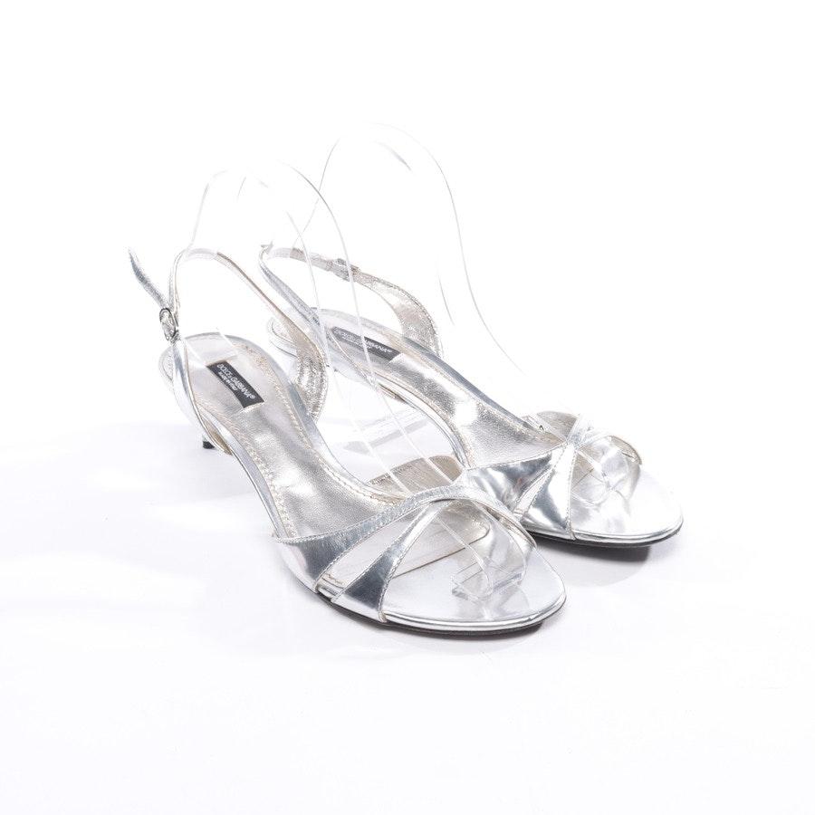 Sandaletten von Dolce & Gabbana in Silber Gr. EUR 39