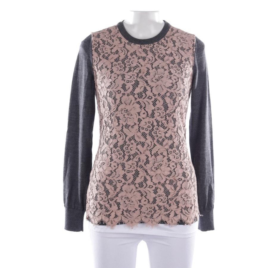 Feinstrickpullover von Dolce & Gabbana in Dunkelgrau und Rosa Gr. 34 IT 40