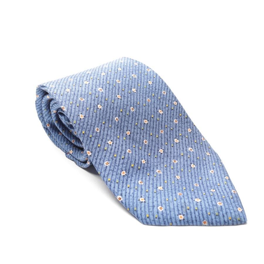 Seidekrawatte von Hermès in Blau und Mehrfarbig