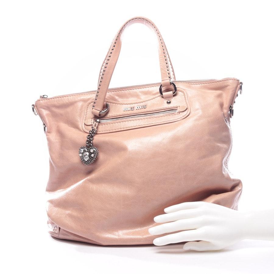 shopper from Miu Miu in dusky pink