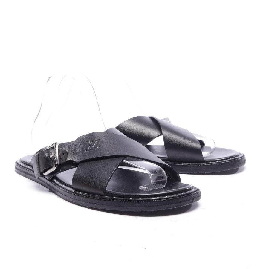 Sandalen von Louis Vuitton in Schwarz Gr. EUR 41,5 UK 7,5
