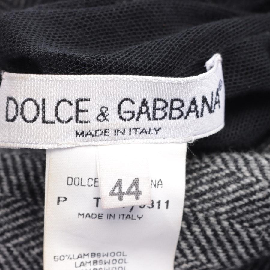 Kleid von Dolce & Gabbana in Grau und Schwarz Gr. 38 IT44