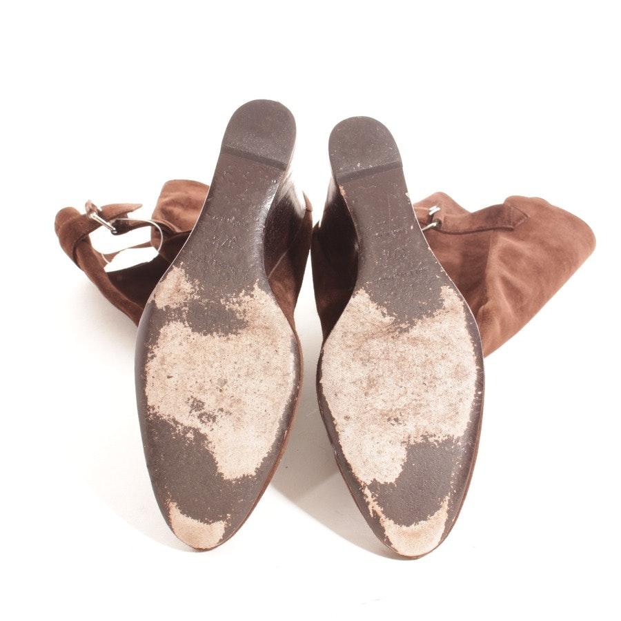Stiefel von Balenciaga in Dunkelbraun und Silber Gr. D 37,5