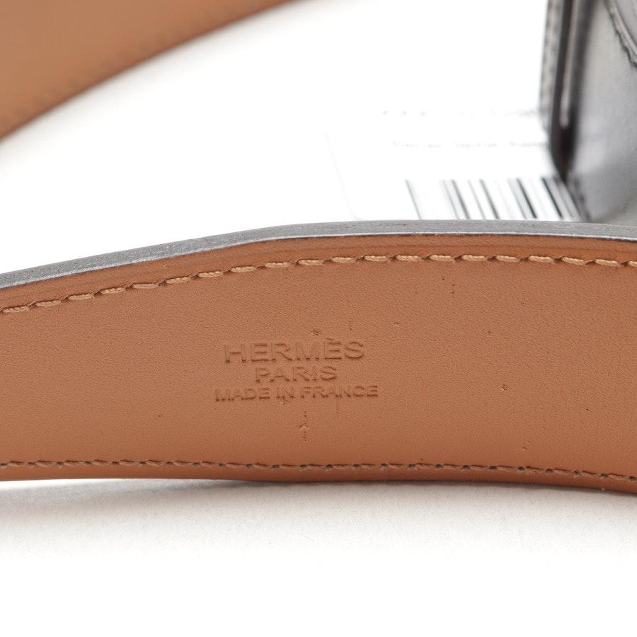 Gürtel von Hermès in Schwarz und Braun Gr. 105 cm