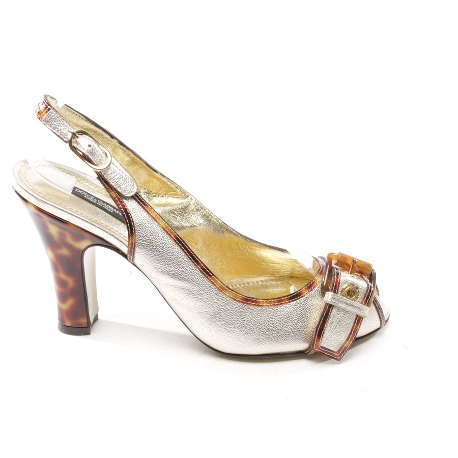 heeled sandals from Dolce & Gabbana in gold size D 39 - new!