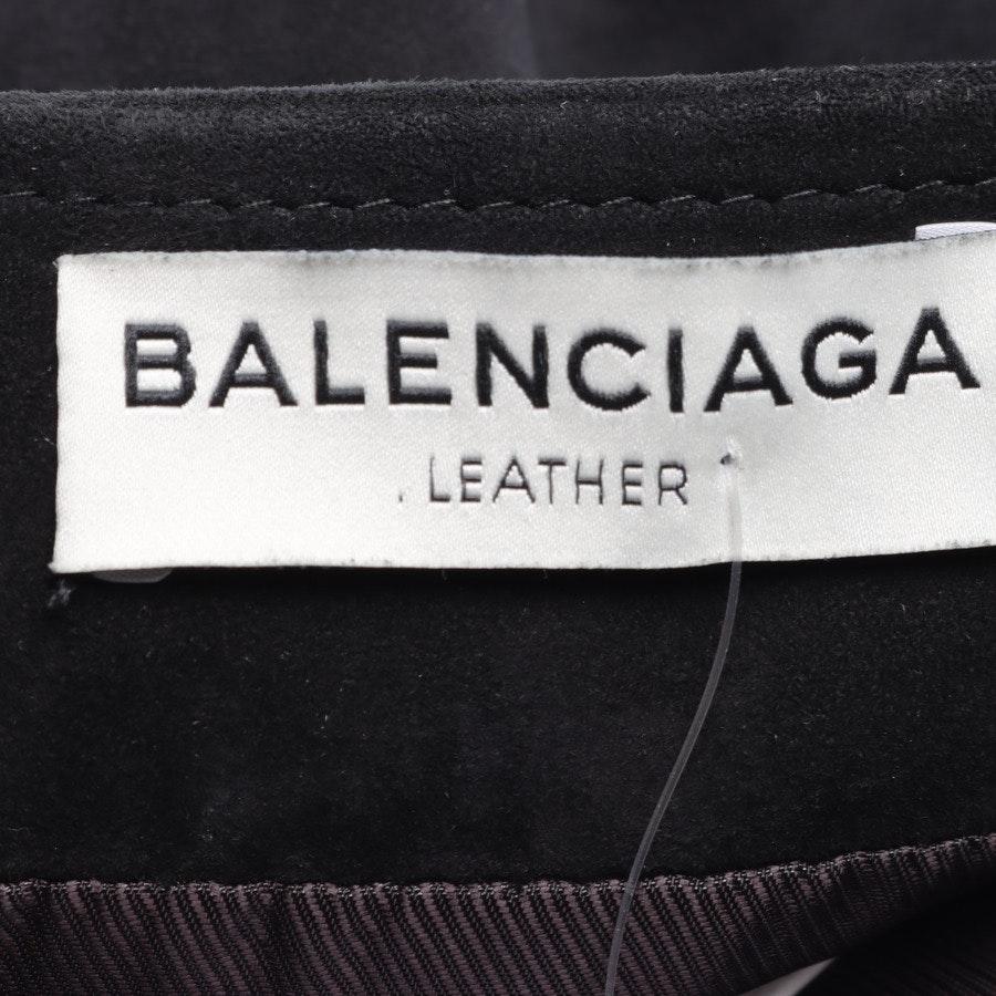 Lederrock von Balenciaga in Schokobraun und Schwarz Gr. 38 FR 40