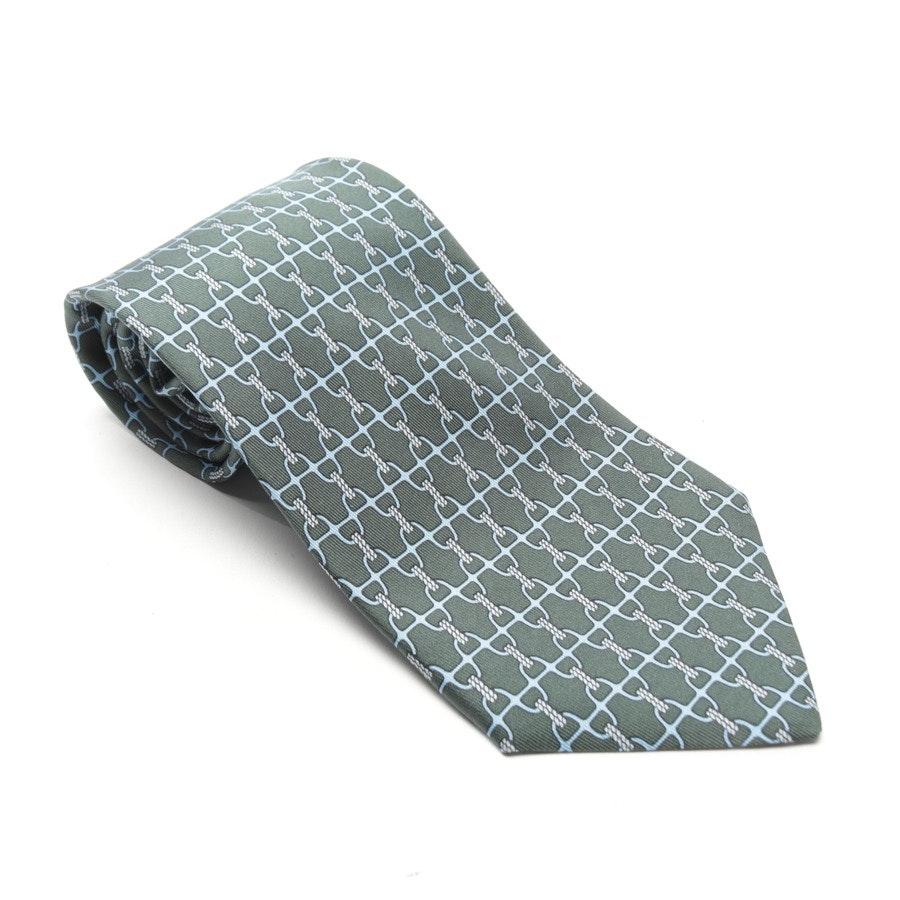 Seidenkrawatte von Hermès in Dunkelgrün und Blau