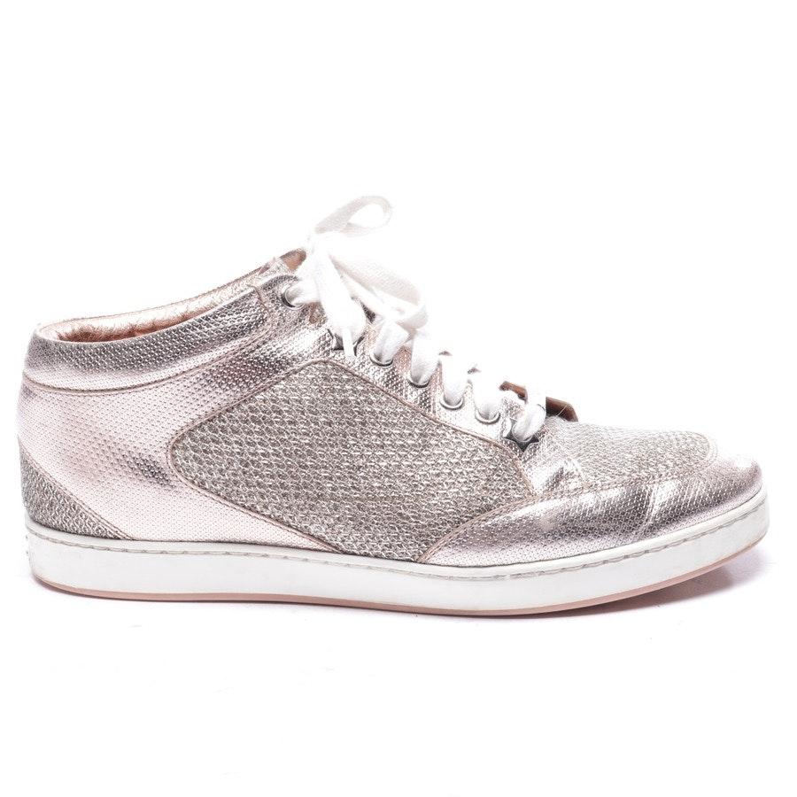 Sneaker von Jimmy Choo in Lachsrosa und Weiß Gr. EUR 37